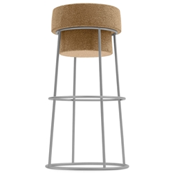 Bouchon-Sga Satin Modern Bar Stool by Domitalia