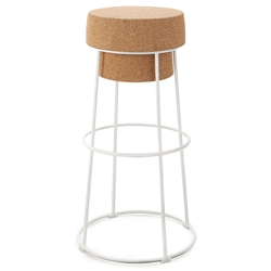 Bouchon-Sga White Modern Bar Stool by Domitalia