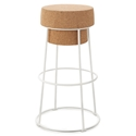 Bouchon-Sgb White Modern Counter Stool by Domitalia