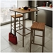Bradley Modern Stool by Amisco - Pictured in Toasty Wood and Falcon Base