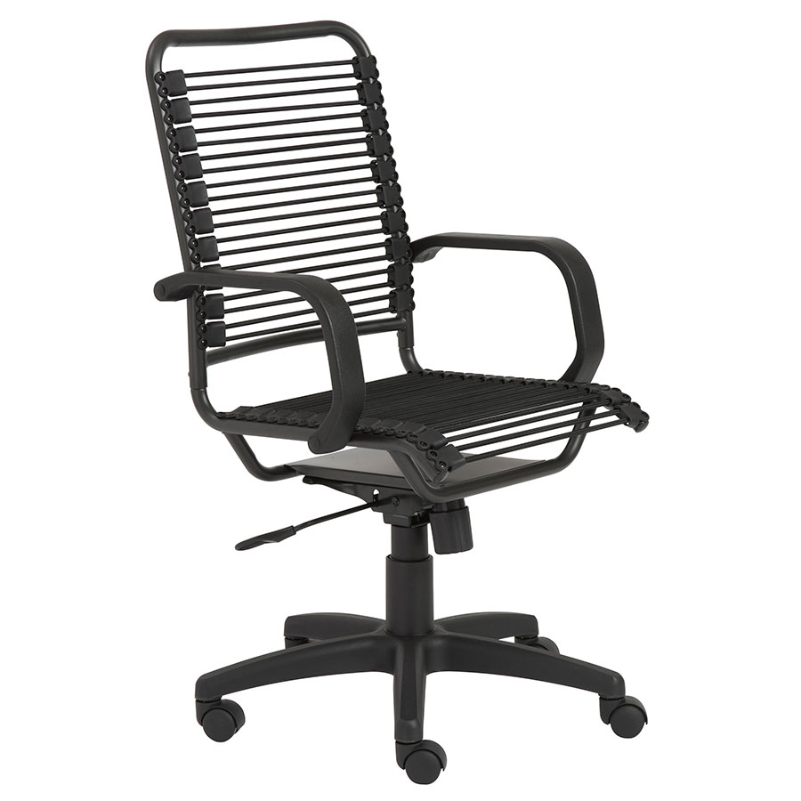 Bradley Modern High Back Black Bungie Office Chair