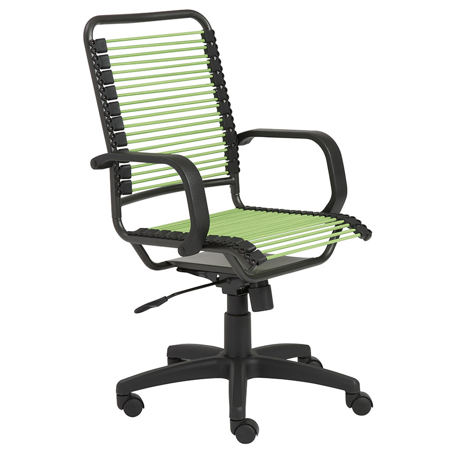 Bradley Modern High Back Green Bungie Office Chair