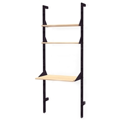 Gus* Modern Branch-1 Desk + Shelving Unit in Black + Blonde