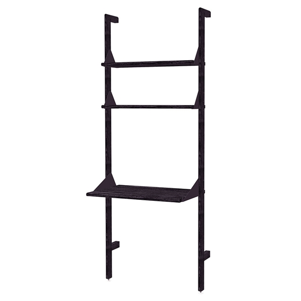 Gus* Modern Branch-1 Desk + Shelving Unit in Black