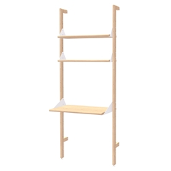 Gus* Modern Branch-1 Desk + Shelving Unit in Blonde