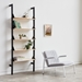 Gus* Modern Branch-1 Shelving Unit in Black and Blonde Ash Wood - Lifestyle