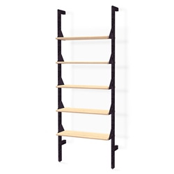 Gus* Modern Branch-1 Shelving Unit in Black and Blonde Ash Wood
