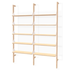 Gus* Modern Branch-2 Shelving Unit in Blonde Ash Wood