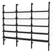 Gus* Modern Branch-3 Shelving Unit in Black Ash Wood With Black Metal Brackets