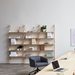 Gus* Modern Branch-3 Shelving Unit in Blonde Ash Wood With White Metal Brackets - Lifestyle 2