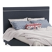 Breeze Contemporary Upholstered Headboard in River w/ Rope Welt