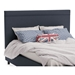 Breeze Contemporary Upholstered Headboard in River w/ Self Welt by Amisco