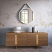 Brixton Walnut Wood + Brass Modern Sideboard by Modloft Black - Front Room Setting Front With Props