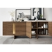 Brixton Walnut Wood + Brass Modern Sideboard by Modloft Black - Front Room Setting Open