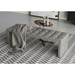 Modloft Broad Modern Bench in Warm Gray Top Grain Leather - Room Setting