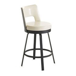 Brock Counter Stool in Black Coral and Eggshell by Amisco