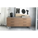 Modloft Broome Modern Latte Walnut Dresser - Room Setting