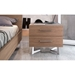 Modloft Broome Modern Latte Walnut Nightstand and Bed