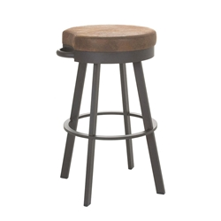 Bryce Counter Stool in Oxidado and Coconut by Amisco