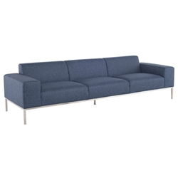 Bryce Denim Tweed Modern Sofa by Nuevo