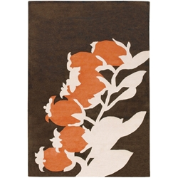 Buds 3x5 Rug in Orange