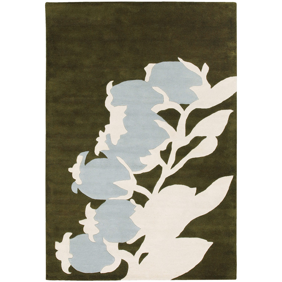 Buds 5'x8' Rug in Blue