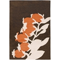 Buds 5'x8' Rug in Orange
