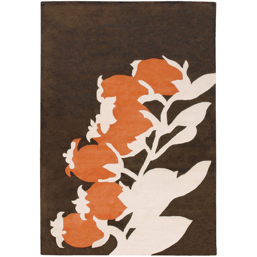 Buds 8'x10' Rug in Orange