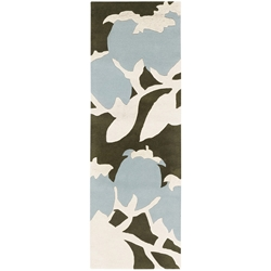 Buds Runner Rug in Blue