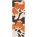 Buds Runner Rug in Orange