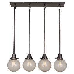 Tyler Linear Globe Contemporary Hanging Lamp