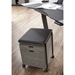 Carins Modern Gray Ash Wood + Padded Mobile File