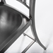 Callie Modern Brushed Nickel Bar Stool - Seat Detail