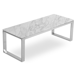 Calvin Modern Condo Coffee Table w/ White Marble Top by sohoConcept