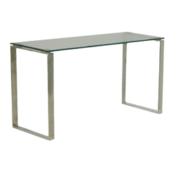 Calvin Modern Console Table w/ Glass Top by sohoConcept