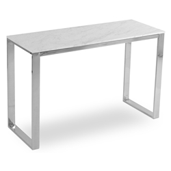Calvin Modern Console Table w/ White Marble Top by sohoConcept