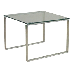 Calvin Modern End Table w/ Glass Top by sohoConcept