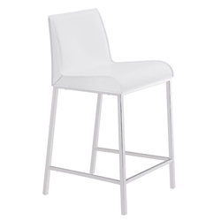 Cam Modern Counter Stool in White