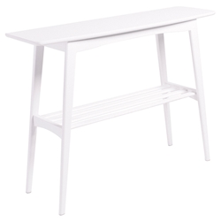 Carmela Contemporary Matte White Console Table