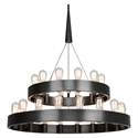 Candelaria 2 Tier Contemporary Hanging Lamp by Robert Abbey