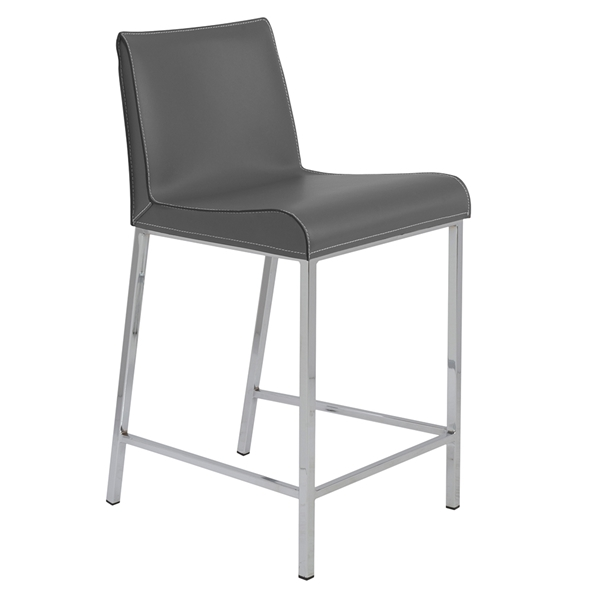 Cam Modern Counter Stool in Gray