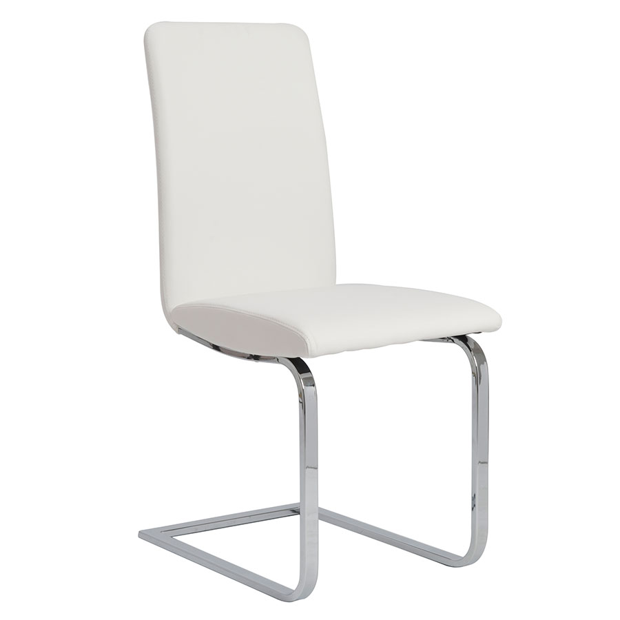 Cinzia White Modern Dining Side Chair