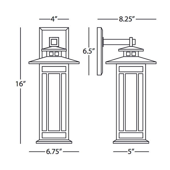 Candler Outdoor Wall Sconce