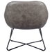 Corinna Contemporary Lounge Chair in Dark Gray - Back View