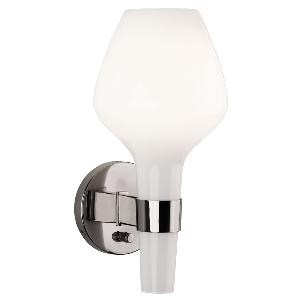Capri Contemporary White Wall Sconce