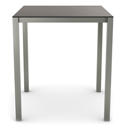 Carbon Modern Bar Table w/ Matte Black Glass by Amisco