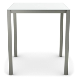 Carbon Modern Bar Table w/ Ultra White Glass by Amisco