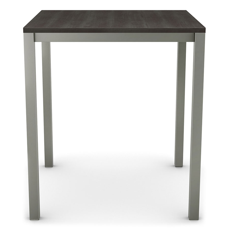 Carbon Modern Wood Bar Table by Amisco