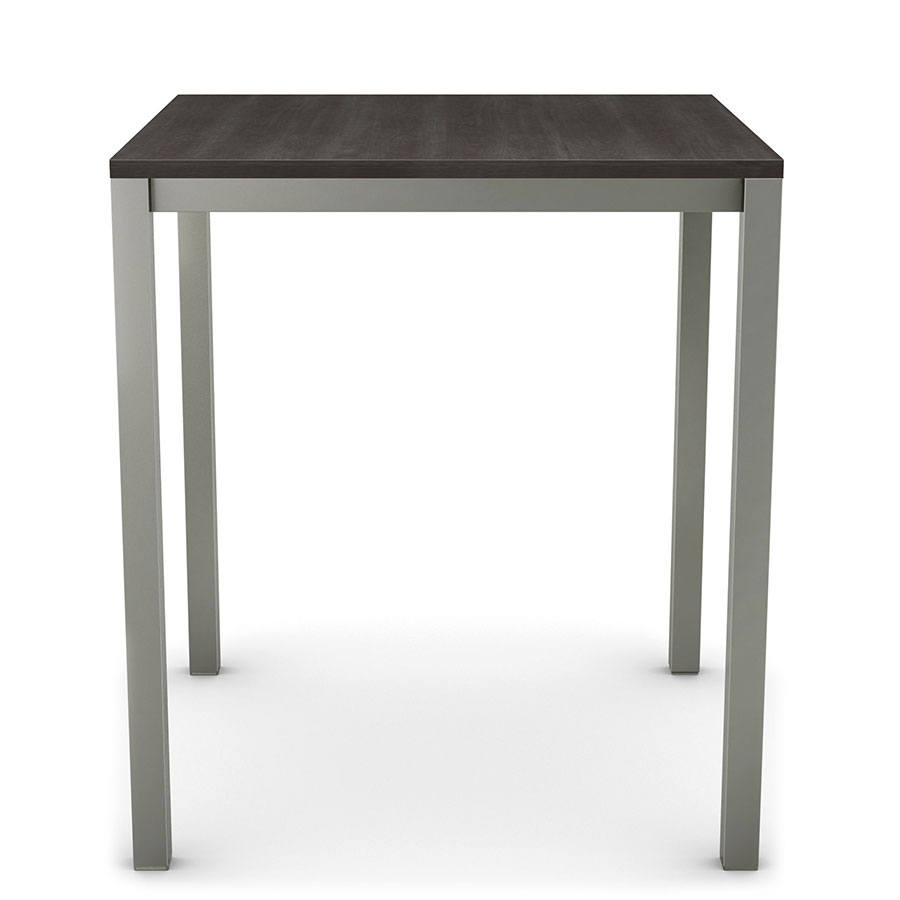 Carbon Modern Wood Counter Table by Amisco