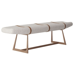 Modloft Carey Modern Bench in Oatmeal Fabric